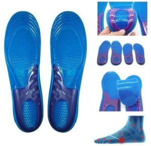 chinkyboo Massaging Silicon Gel insoles for Sore Feet Relief, Shock  Absorption, Running : Hiking