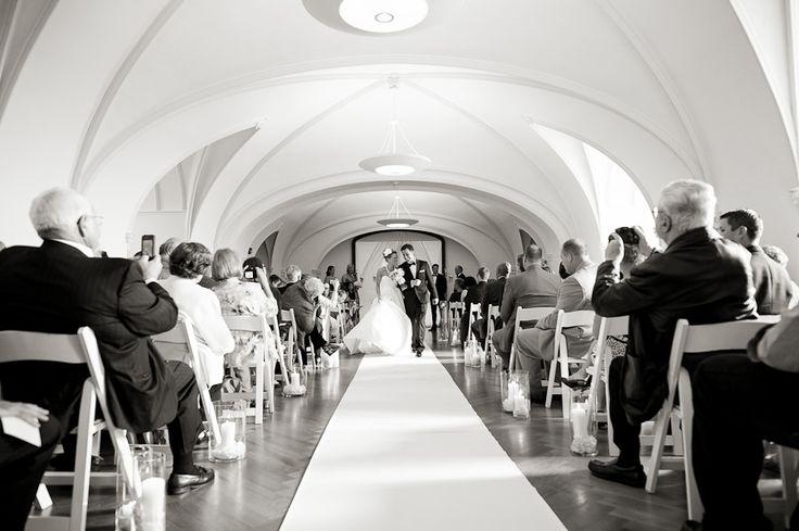 Indoor Wedding Ceremony At Laurel Hall In Indianapolis