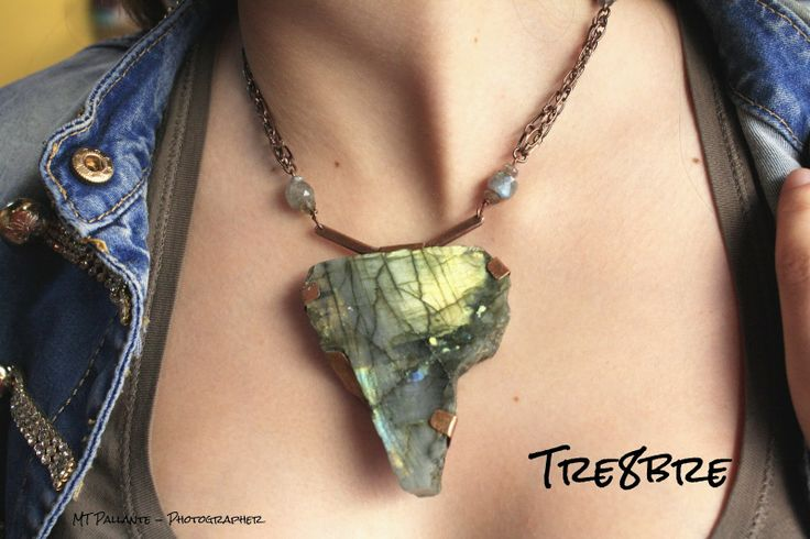 Africa - necklace in Labradorite and copper, by Tre8bre