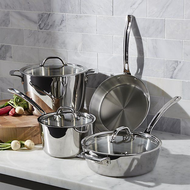 Viking Contemporary 7-Piece Cookware Set   Crate and Barrel