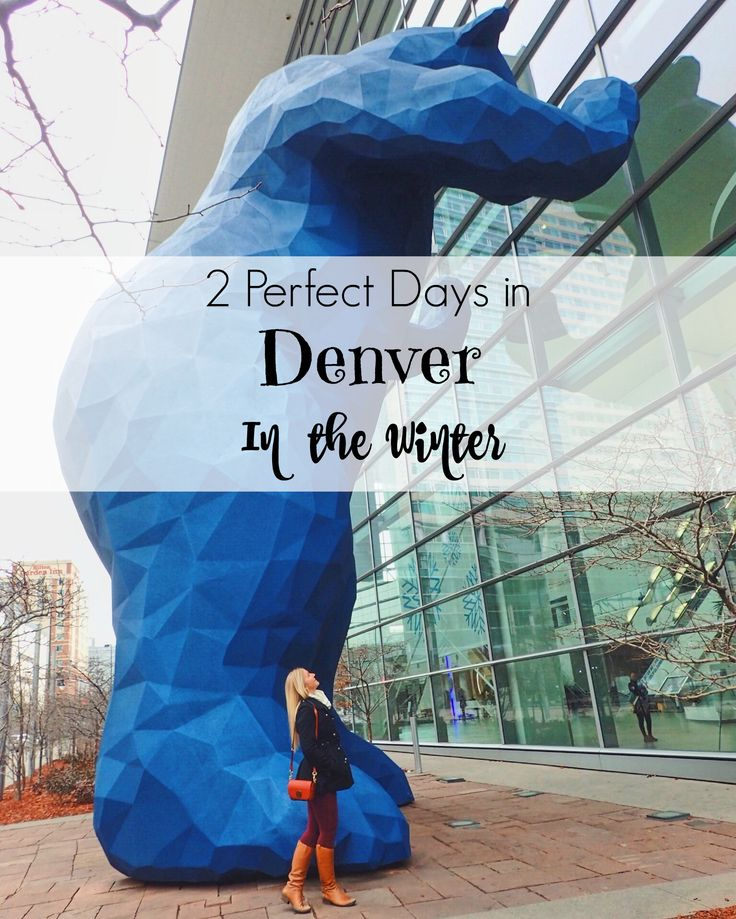Weekend in Denver in the Winter | You may think of Denver as a summer destination, but here's a little known secret: Denver in the winter is AWESOME!