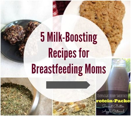 Click through for 5 tasty recipes that will help boost your milk supply!