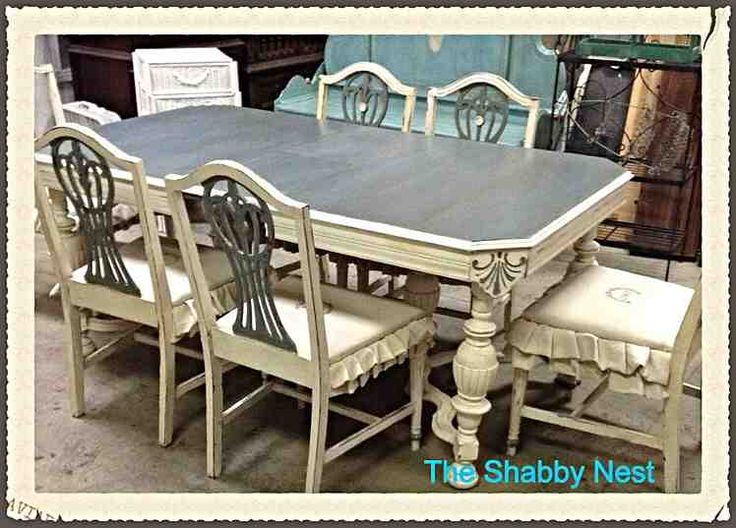 Dining Room Set Chalk Milk Paint Redo