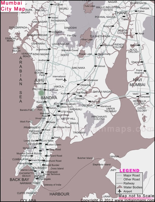 Printable Mumbai Local Train Map for Tourists