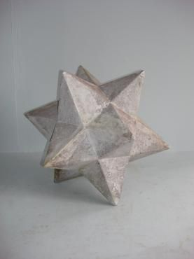 Zenon Star  Fiberglass and Stone Cast Mixture  Each Piece Unique with Handmade Finish  Safe for Outdoor Use    Larger Size Also Available  22
