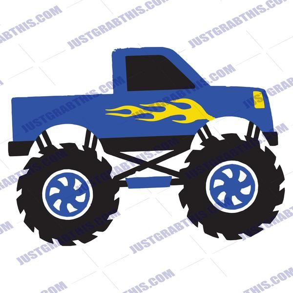 Download Monster Truck SVG Files For Silhouette, Files For Cricut ...