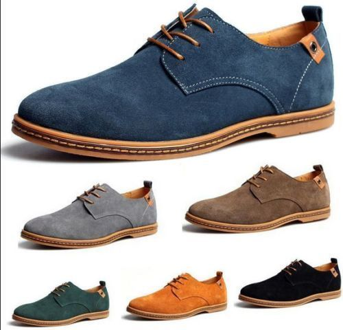 New Suede European style leather Shoes Men's oxfords Casual Fashion shoes #MensFashionEuropean
