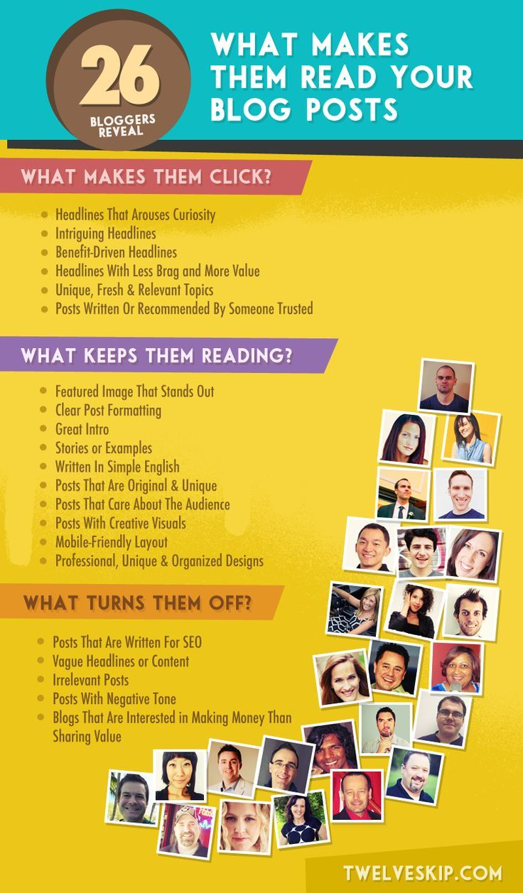 How to format your blog post to get more social media share - What Makes People Read Your Blog Post 26 Bloggers Share What They Look For