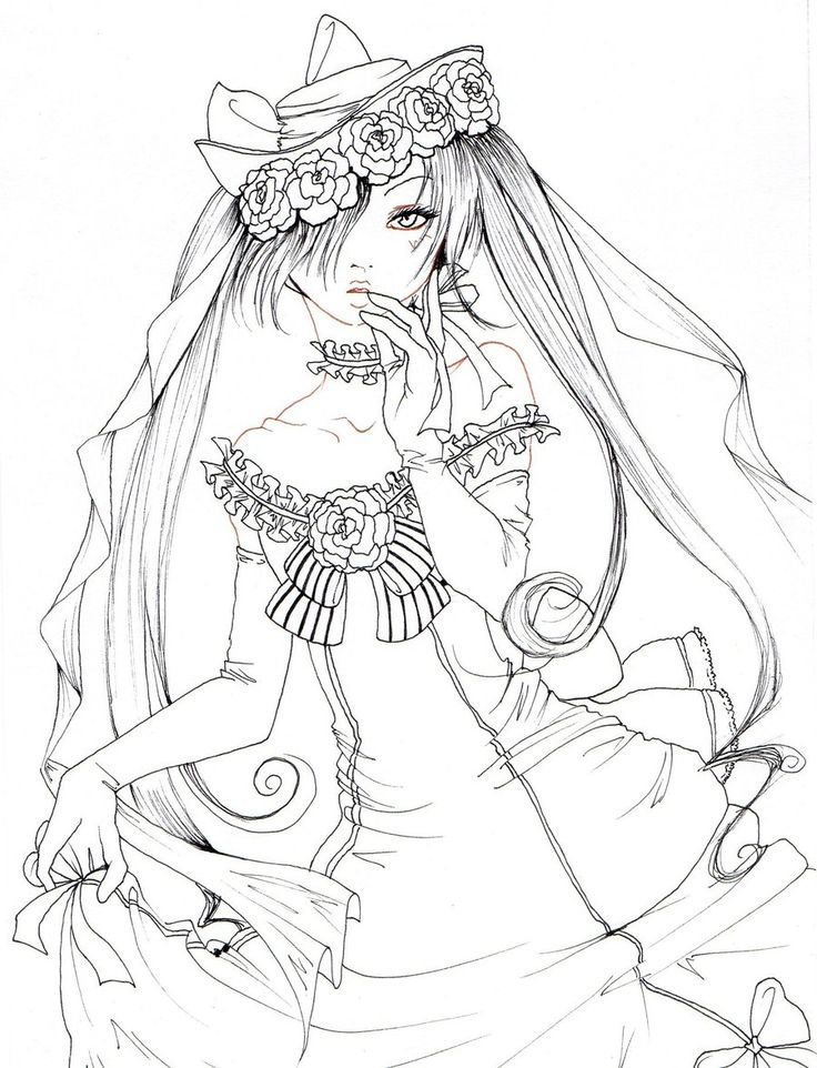 Lady Ciel Lineart By NanakoHarrisondeviantartcom On