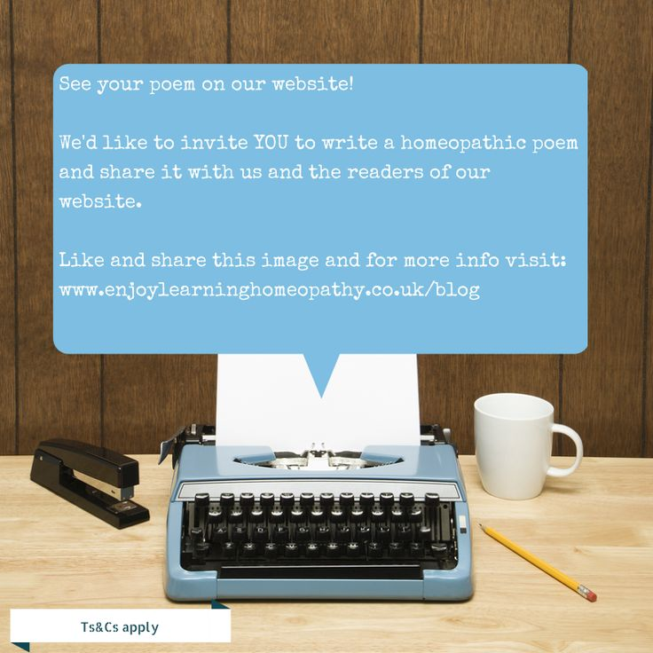 Whether it be y pen, type write or computer, we'd love you to write an arnica poem.