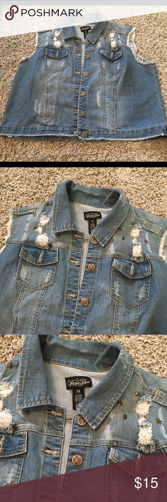 Women's 3xl Sleeveless Jean Jacket by Jane Doe Excellent condition. Other
