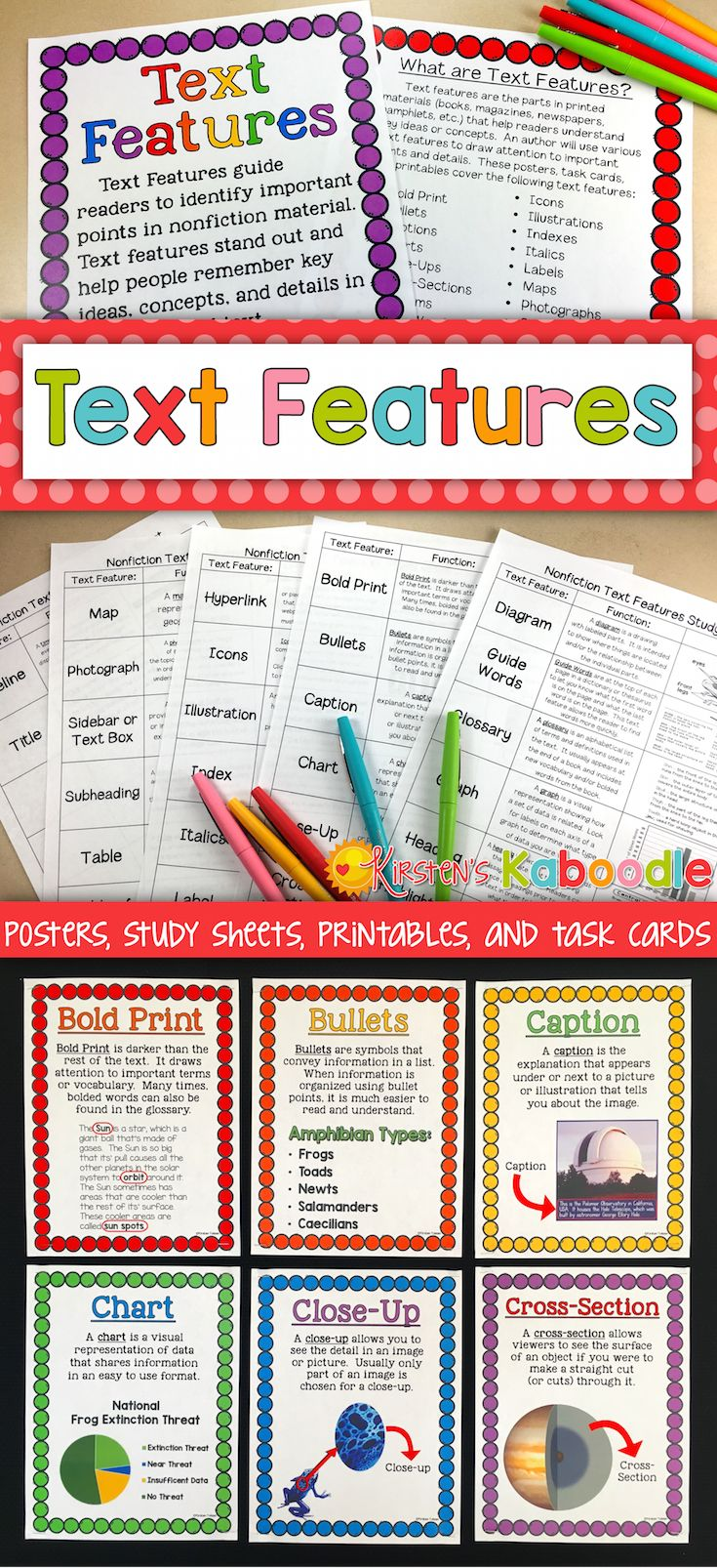 best 25 text features worksheet ideas only on pinterest