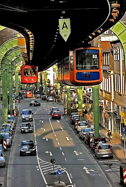 Wuppertal Floating Tram, Wuppertal, Germany | by Guido Kosch