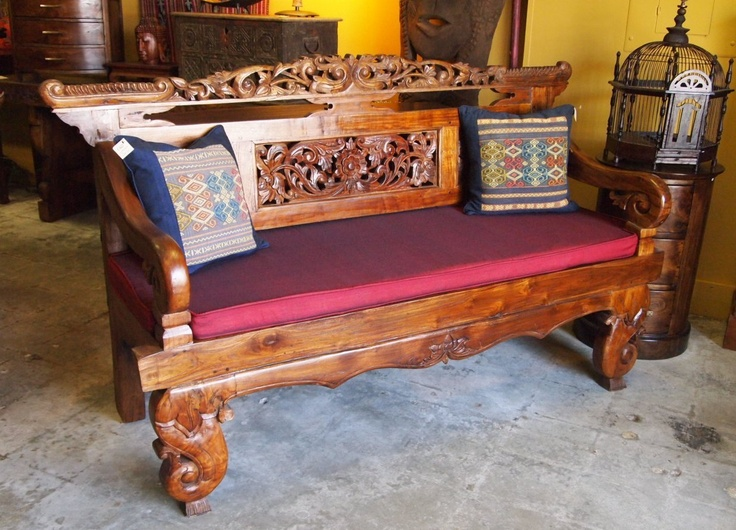Indonesian Bench From Reclaimed Teak At Gadogado Bali Furniture