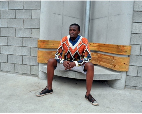 Mnqusho sweater by Maxhosa Knitwear. MaXhosa by Laduma is a distinctive knitwear brand that is rooted in Laduma Ngxokolo's journey into creating Xhosa-inspired knitwear. #African #style #South_Africa