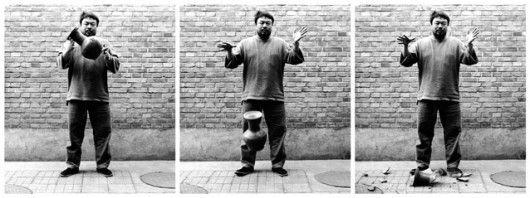 Ai Weiwei, Laisser tomber une urne de la dynastie des Han, 1995