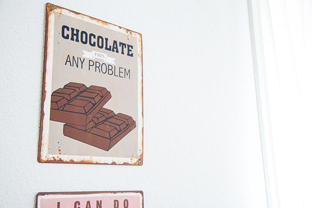 Chocolate fixes any problem #sign #decor #deko #schild