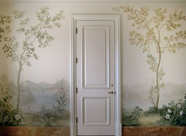 painted wall murals on pinterest hand painted walls large wall. Black Bedroom Furniture Sets. Home Design Ideas