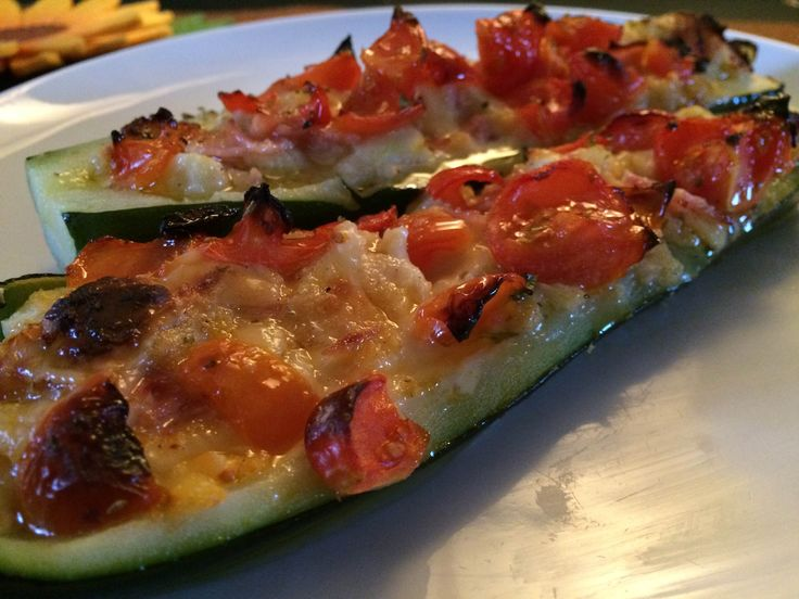 Baked stuffed zucchini: a fresh and light second course!