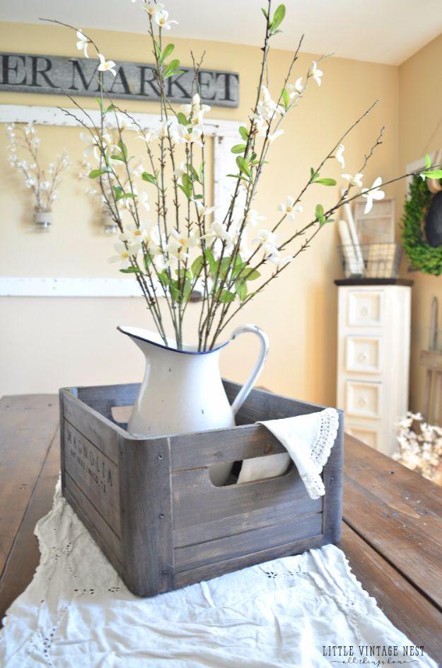 DIY Bauernhausstil Dekor Ideen für die Küche – Holzkiste Herzstück – …   – New Home Design