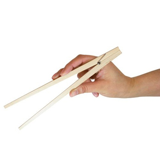 Don't be embarrassed if you can't use chopsticks, now you can! These spring loaded, wooden clothespin style utensils will make eating with chopsticks a breeze. Not only fashionable but completely functional at the same time! EZ Chopsticks will refine your eastern eating habits and have you picking up sushi like nobody's business. Great for removing toast from the toaster as well.