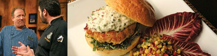 Lobster and Crab Burger with Tartar Sauce and Corn Relish Chef Michael Hillyer - The Capital Grille, Seattle