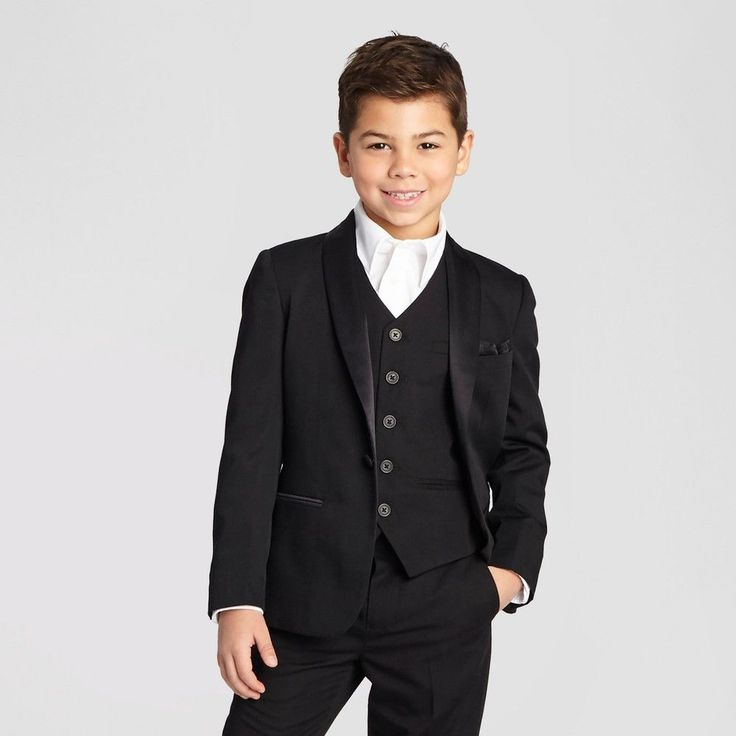 Boys' Tuxedo Jacket - Black 14