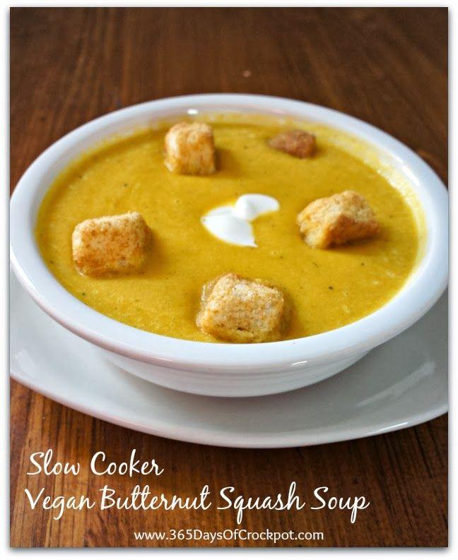 Recipe for Vegan Slow Cooker Butternut Squash Soup