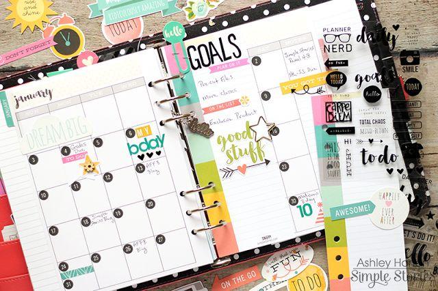 Ashley Horton Designs: Simple Stories Carpe Diem Planner | January 2016