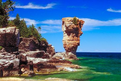Bucketlist--Flowerpot Island, Bruce Peninsula, Ontario. Why it's on the list: Huge Flowerpot sculptures located on the island, ferry to the island passes over shipwrecks and more.