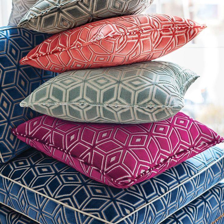 Jardin Maze Velvet Fabric in 2020 French fabric, Fabric
