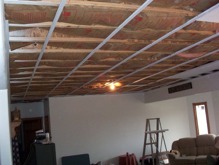 Unique Basement Ceiling Covering