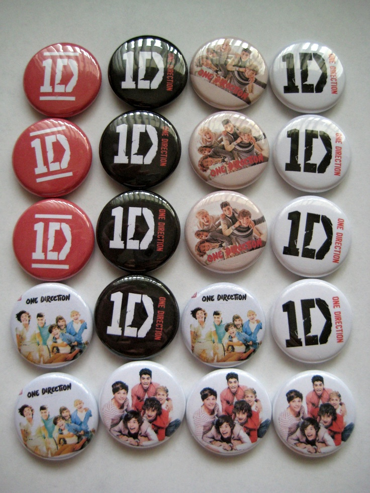 20 1D One Direction Pin Back Button Party Favor by PaperCandys, $9.25