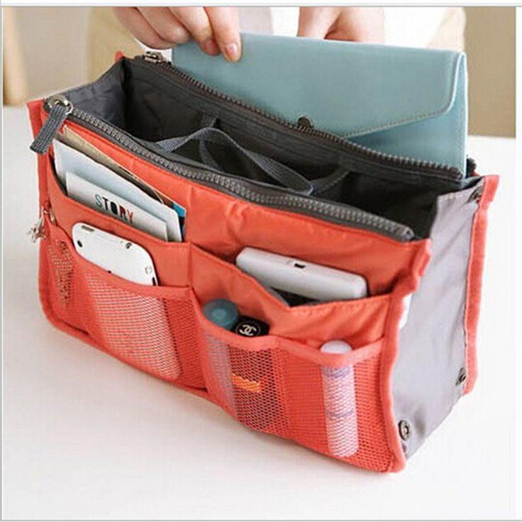 12 Warna Make up organizer tas travel Wanita Pria Kasual Tas tas penyimpanan tas Kosmetik fungsional dalam tas Makeup tas