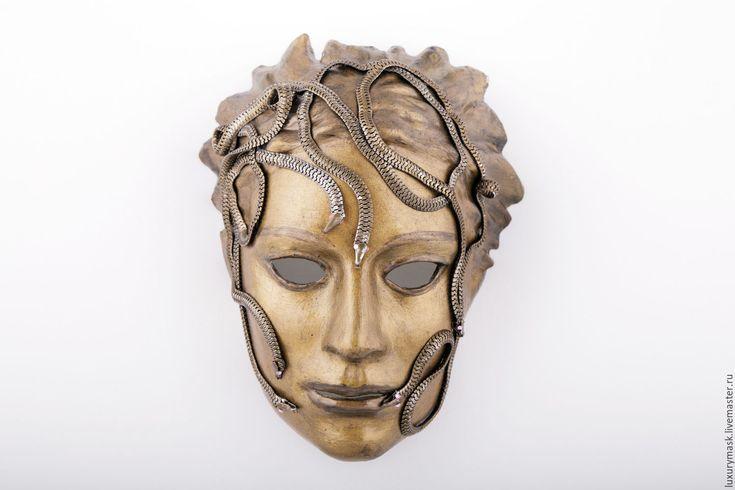 Купить Венецианская маска Медуза Горгона - коричневый, венецианская маска, карнавал, карнавальная маска, венеция