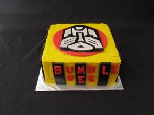 Transformer Bumble Bee Birthday Cake