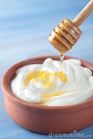 Griekse yoghurt met honing. Nagerecht