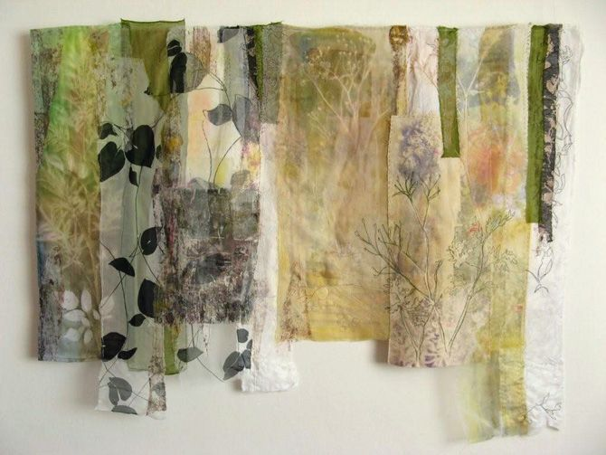 Cas Holmes Textile Artist Along Peddars Way 135x85cm Life, home and work by Cas Holmes textile artist