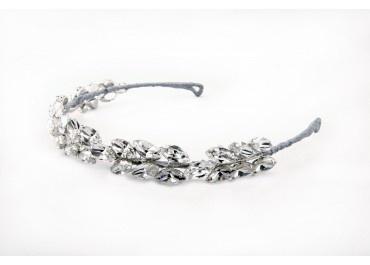 Athena - Bridal Headpiece by Polly Edwards - available to buy at theweddingvine.com/shop.  Audrey Hepburn style headband for ultimate glamour!