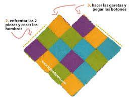 Resultado de imagen para telar cuadrado poncho