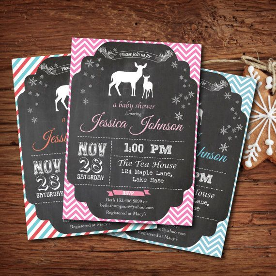 Printable winter baby shower invitation. by ThePaperWingCreation, $13.00
