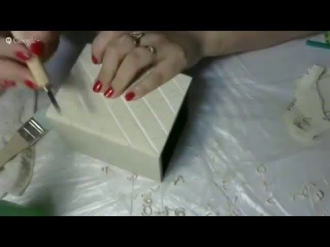 Оксана Тохтобина Иммитация резьбы по дереву Масаа - YouTube