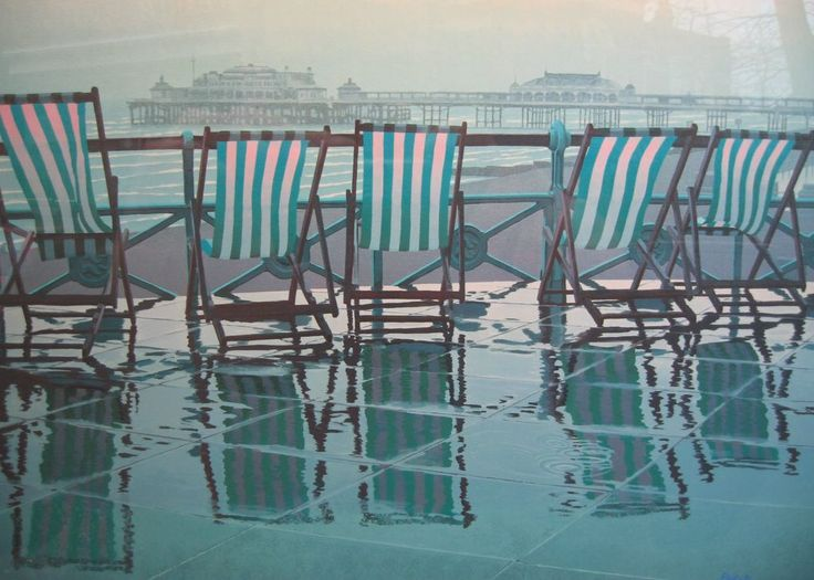 Deckchairs in the rain