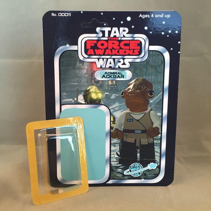 Star Wars The Force Awakens Custom Kit 11 Admiral Ackbar Minifigure card SWD Exclusive