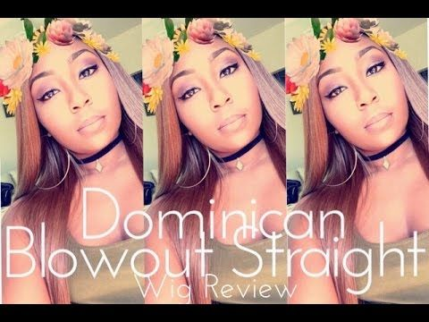 How To SLAY A Wig | Outre Synthetic Dominican Blowout Straight Lace Front Wig - YouTube