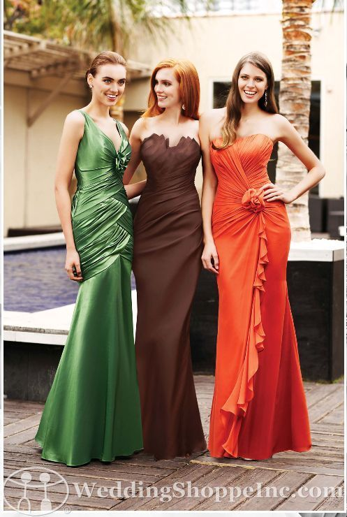 Bridesmaid dress (middle dress in eggplant purple): Colors Trends, Colors Combos, Fall Bridesmaid Dresses, Dresses Collection, Shorts Prom Dresses, Bridesmaid Colors, Special Occa Dresses, Purple Bridesmaid, Bridesmaid Gowns
