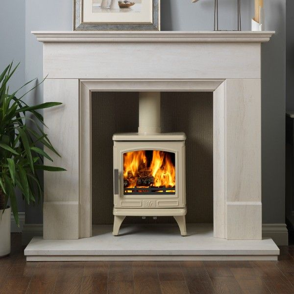 Image result for cream wood burning stove