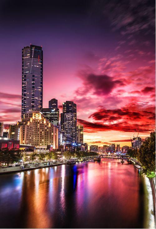Princess Bridge sunset from $34.99 | www.wallartprints.com.au #CanberraPhotos #AustralianLandscapePhotography