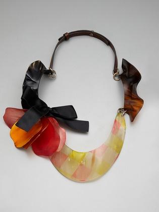 Marni petal flower bib necklace