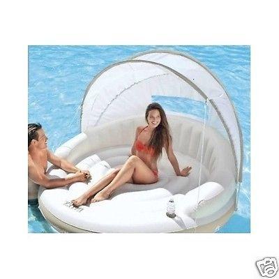Плавающей ОСТРОВ плот надувной стороной лодка-вода-озеро кемпинг-дети-бассейн